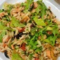 Grilled Salmon Salad With Orzo, Arugula And Roasted Peppers