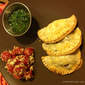 Easy Beef Empanadas with Chimichurri – Served with Tomato Feta Salad