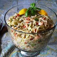 Make-over Spaghetti & Shrimp Salad