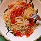 Vermicelli with Tomatoes in Anchovy Butter