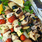 Herby Marinated Chicken Kabobs with Zucchini and Tomatoes