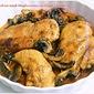 Chicken & Mushrooms in Wine Sauce