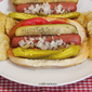 "A Chicago-esque Gourmet Hot Dog Recipe: ""The City of New Orleans"""