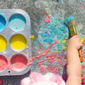 Inspire Your Child's Creativity with Frugal Flour Sidewalk Paint