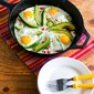 Baked Eggs Skillet with Avocado and Spicy Tomatoes (Paleo, Low-Carb, Gluten-Free)