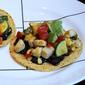 Chicken and Summer Vegetable Tostadas