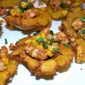 Shrimp and Corn filled Tostones