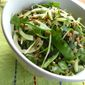 "Sesame Zucchini ""Noodles"" with Snow Peas"