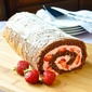 Strawberry Buttercream Chocolate Roll