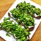Broad Bean, Pea and Ricotta Crostini with Mint