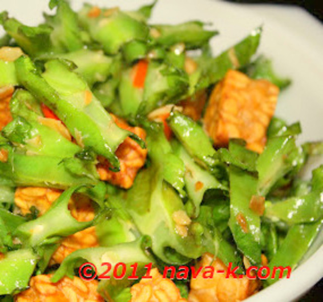 Four Angled Beans And Tempeh Stir Fried