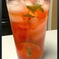 Rosy Cooler - refreshing drink with strawberries and basil