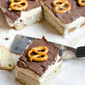 Caramel Banana Ice Cream Cake with Chocolate Pretzel Magic Shell