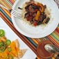 Southwestern Grilled Steak and Peppers with Easy Cheese Nachos