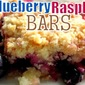 Guest Blogger~ Moore of Less Cooking Blog Blueberry Raspberry Bars