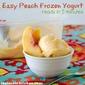 Easy Peach Frozen Yogurt