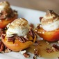 Grilled Peaches with Pecans and Maple Meringue