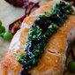 Pan-Fried Salmon with Green Sauce
