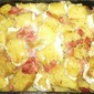 Potatoes with ham