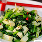 Stir Fried Cumin Spinach And Tofu (Vegetarian)