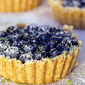 No Cook Blueberry Lime Curd Tarts