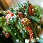 Green Bean, Brussels Sprout and Tomato Salad with Goat Cheese