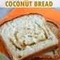 Orange Swirl Coconut Bread