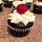 Mini Black Forest Cupcakes with Bourbon Cherries