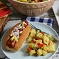 Warm Potato Salad and #HebrewNational Hot Dogs – A #GreaterGrilling Pair