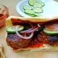 Grilled Turkish Lamb Burgers with Red Pepper Ketchup