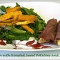 Chicken with Roasted Sweet Potatoes and Spinach