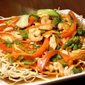 Crispy Fried Noodles with Prawns and Chicken