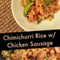 Trader Joe's Tag: Chimichurri Rice with Chicken Sausage
