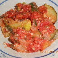 Sauteed Zucchini in Homemade Tomato Sauce