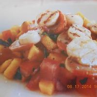 Grilled Scallops and Papaya Salsa