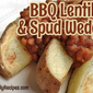 Barbecue Lentils with Baked Potato Wedges