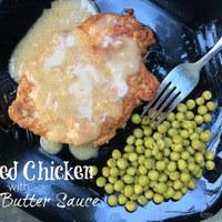 Breaded Chicken with Garlic Butter Sauce