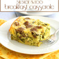 Slow Cooker Sausage & Egg Breakfast Casserole