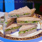Cucumber Tea Sandwiches with Chile-Basil Butter
