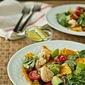 Shrimp and avocado tortilla salad