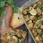 Dijon Mushrooms - Easy Gourmet Cookbook blog tour + giveaway