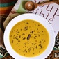 Red lentil soup with carrot and red bell peppers