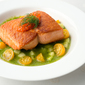 Seared Salmon with Cucumber Sauce
