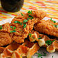Southern Fried Chicken & Cheddar Bacon Waffles