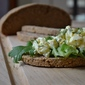 Dill Egg Salad on Homemade Rye Bread
