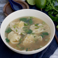 Lemongrass Chicken Dumpling Soup - Dumplings All Day Wong blog tour + giveaway