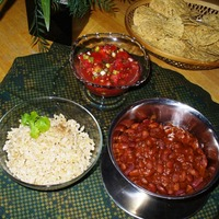 Red Beans & Rice with Salsa