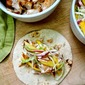 Grilled Fish Tacos with Red Onion-Mango Slaw