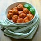 Calabrian Style Meatballs Simmered in a Butter-Onion Tomato Sauce