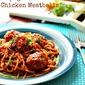 Spaghetti with Chicken Meatballs #backtoschool #SundaySupper